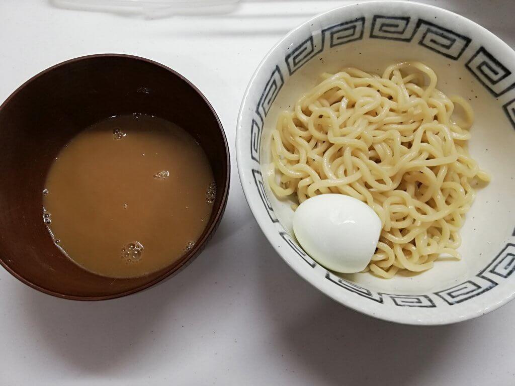 完成したつけ麺